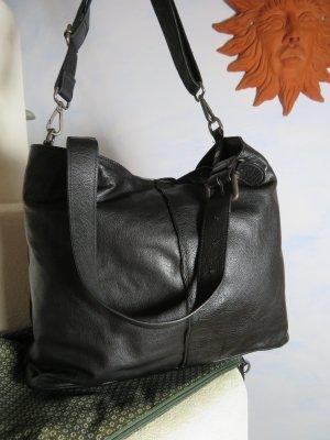 0c260313d7554 große FREDsBRUDER Ombre Tasche Schwarz Leder Umhängegurt 1x benutzt  Schultertasche