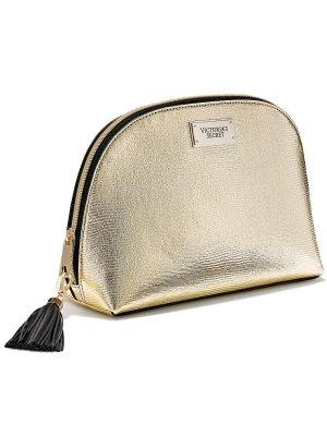 Große goldene Make-up-Tasche