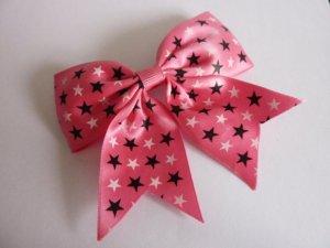 große Haarspange pink Sterne Rockabilly Cosplay Goth Lolita