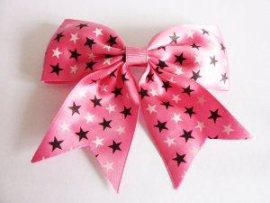 große Haarspange pink Sterne Rockabilly Lolita girly Schmuck
