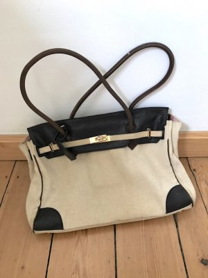 Benetton Shoulder Bag brown-oatmeal