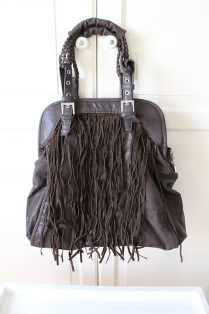 Fringed Bag multicolored imitation leather