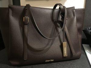 Calvin Klein Borsa shopper oro-marrone scuro