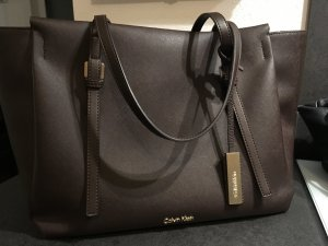 Calvin Klein Borsa shopper oro-marrone scuro