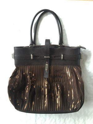 Pouch Bag brown-bronze-colored