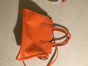 Briefcase orange leather