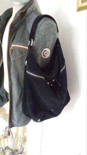 Große Liebeskind Tasche Shopper Schultertasche Schwarz w.Neu Wildleder