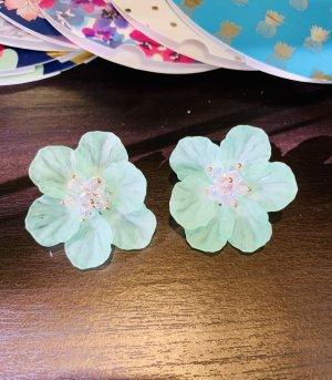 Clou d'oreille turquoise-vert menthe