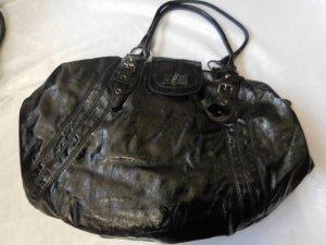 grosse Naf Naf Tasche schwarz Lack sehr guter Zustand