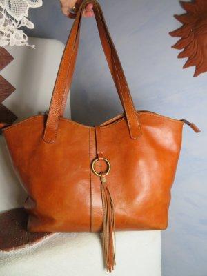 Vintage Shopper dark orange-brown leather