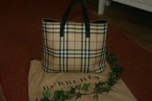 Große Original Burberry Handtasche mit Staubbeutel Check Tasche