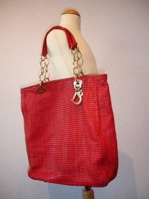 große, rote Dior Leder Handtasche