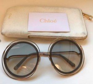 Chloé Oval Sunglasses gold-colored-light grey