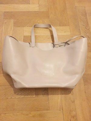 Zara Shopper crème-beige clair faux cuir