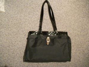 Carry Bag black-silver-colored