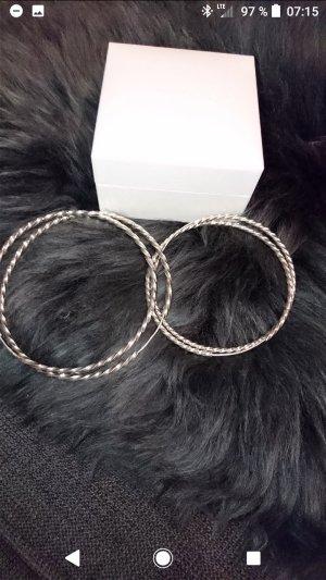 Große silberne Creolen echt Silber