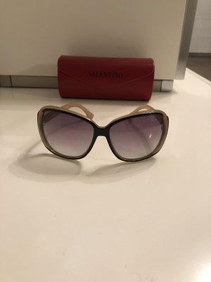 Valentino Hoekige zonnebril licht beige-zwart