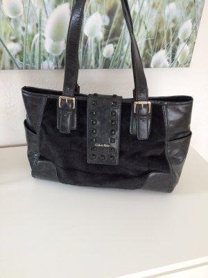 Calvin Klein Shoulder Bag black fur