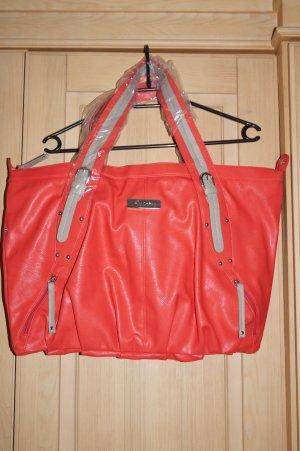 große Tasche in Lachsfarbe, neu