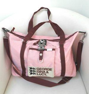 Große Tasche in rosa/weinrot