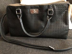 Große Tasche, schwarz/creme