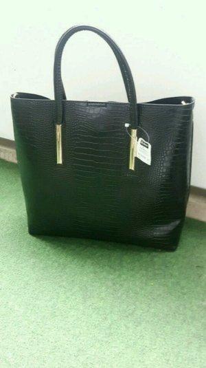 Große Tasche (Shopper) in schwarz