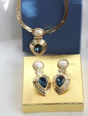 American Vintage Sieraden goud-blauw