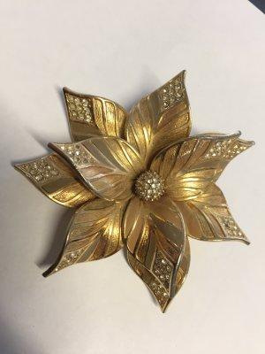 Große Vintage Christian Dior Blumen-Brosche