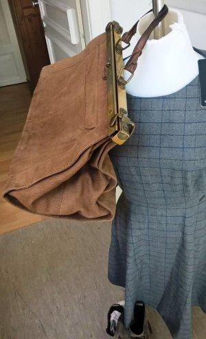 Grosse Vintage Leder Reise Tasche Weekender Koffer Handgepäck Damen Herren Braun