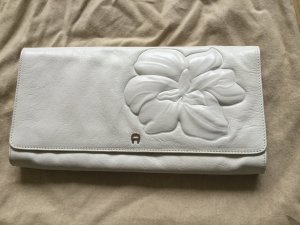 Aigner Clutch white-natural white leather