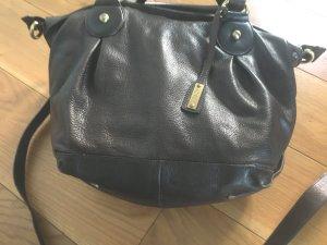 abro Shopper dark brown-gold-colored leather