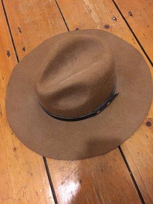 Großer Fedora Hut in Wolloptik, ungetragen