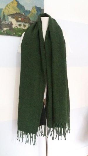 Marc O'Polo Bufanda de flecos verde oscuro-verde bosque lana de esquila