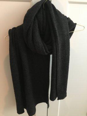 Zara Écharpe en tricot gris foncé