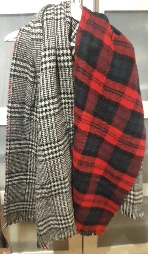 Großer kuscheliger Schal mit zweierlei Muster