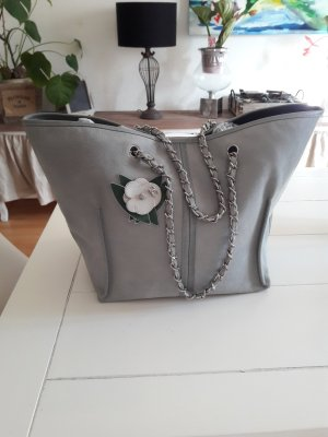 Chanel Luggage slate-gray-pale blue