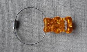 Porte-clés gris clair-orange