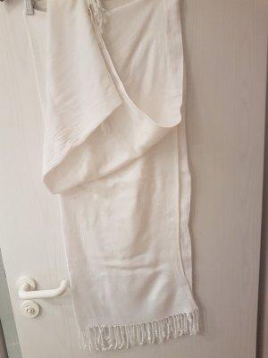 Großer Pashmina - Schal (Perlweiß)