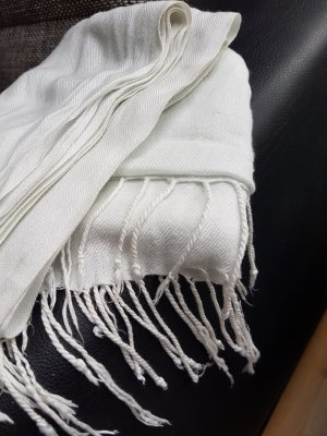 Großer Pashmina - Schal (Weiß)