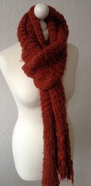 H&M Scarf dark orange wool