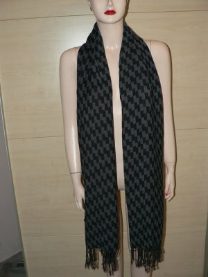 Großer Schal H+M gemustert grau