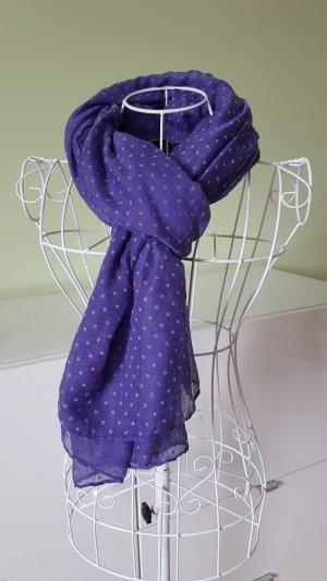 Sciarpa di seta lilla-grigio