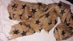 großer Schal mit Sternenmuster