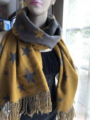 Großer Schal, Sterne, zweiseitig, 2m x 50cm