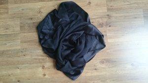 Großer schwarzer D&G Seidenschal, semitransparent