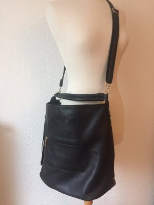 Pouch Bag black imitation leather