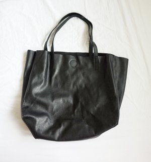 großer Shopper schwarz H&M