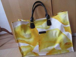 Großer Shopper, Tasche, Gelb, Strandtasche, Blumenprint,Darshan