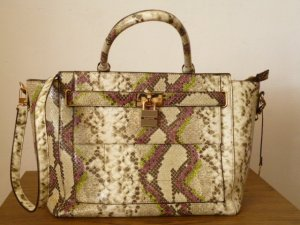 Shopper multicolored imitation leather