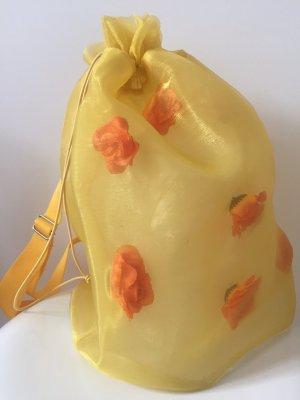 Borsellino giallo scuro-arancione Fibra sintetica